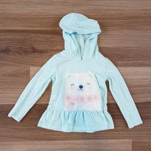 Polar Bear Hooded Long Shirt
